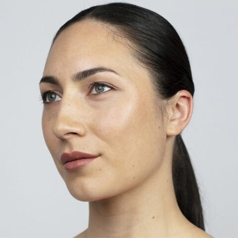 Antipode Lipstick on a fair skinned woman