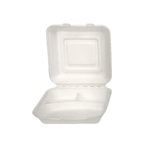 3 part bagasse container